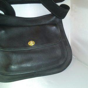 Vintage Black Coach Leather Crossbody Tote $89